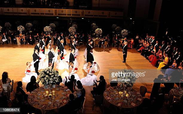 A view of the debutantes dancing during The 56th annual Viennese Opera Ball at The Waldorf=Astoria on February 4 2011 in New York City
