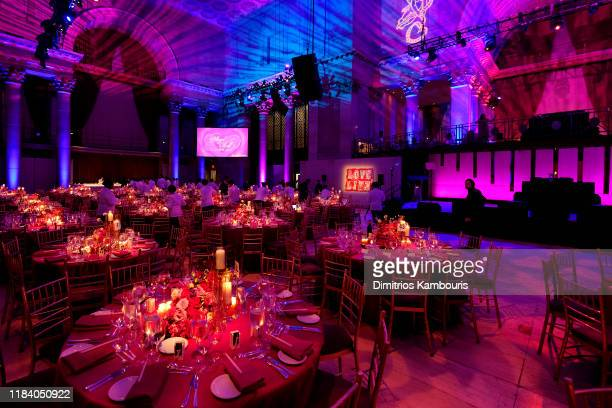 A view of the decor at the Angel Ball 2019 hosted by Gabrielle's Angel Foundation at Cipriani Wall Street on October 28 2019 in New York City