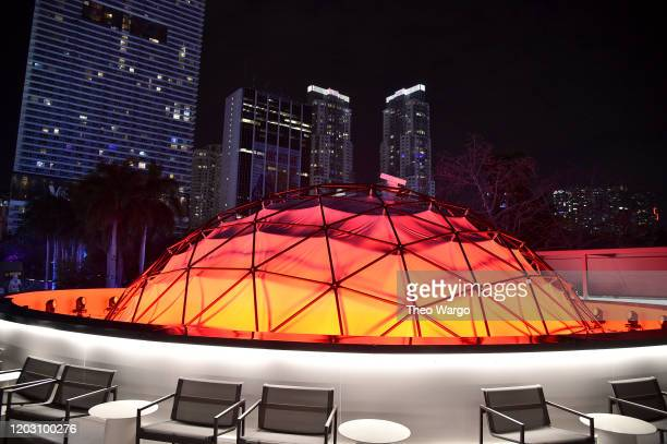 A view of the decor at Twitch Rivals Streamer Bowl After Party at Verizon 5G Stadium at Super Bowl LIVE on January 30 2020 in Miami Florida