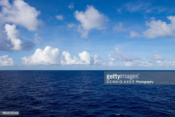 View of the deep blue Caribbean Sea