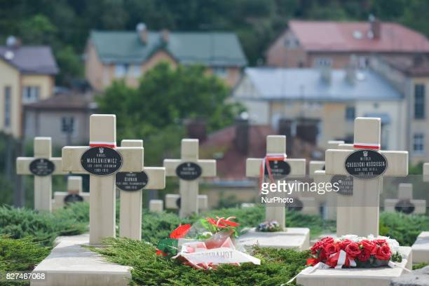 View of the Defenders of Lwow Cemetery . The cemetery, a part of the historic Lychakiv Cemetery, is a memorial and a burial place for the Poles and...