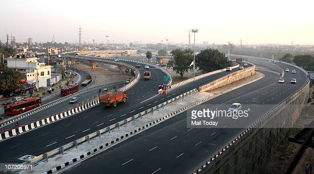 View of the Delhi-Faridabad elevated highway, which was inaugurated on Monday, on November 29, 2010.