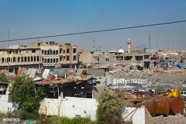 View of the destroyed Mosul on April 24 2018 in MOSUL IRAQ