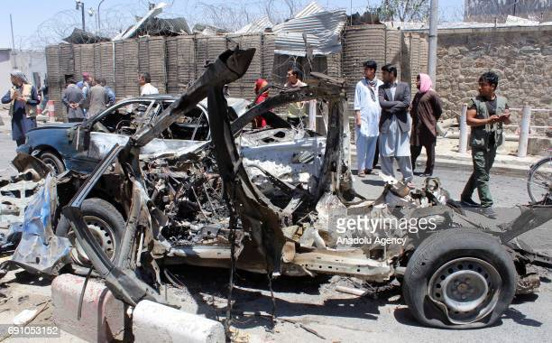 View of the destruction caused by a suicide truck bomb attack in Kabul, Afghanistan on June 1, 2017. At least 90 people were killed and over 400 were...