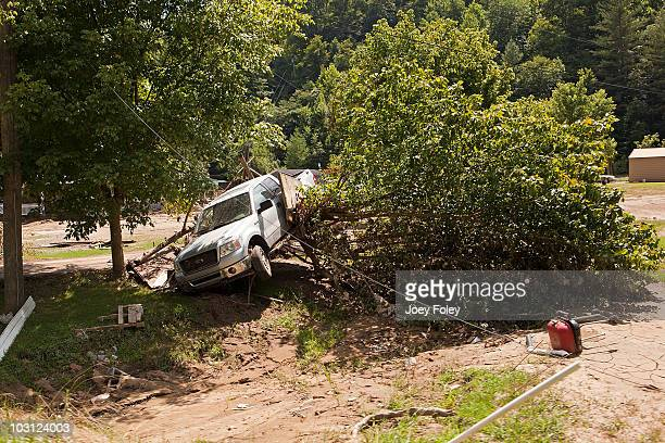 A view of the devastation still remaining from the flood disaster in Pike County on July 27 2010 in Pikeville Kentucky