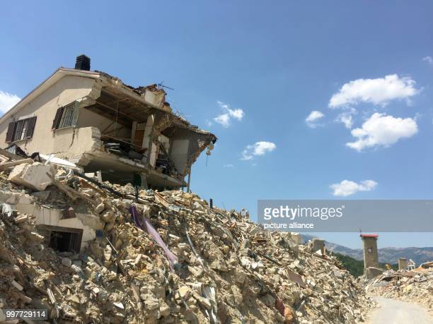 View of the devestated town of Amatrice, Italy, 1 August 2017. The German government has agreed to contribute six million euros toward the...