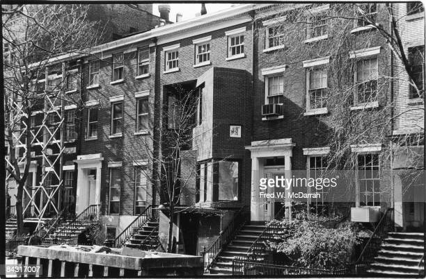 View of the diagonal extension on the house at 18 West 11th Street during its reconstruction New York New York late 1970s On March 6 the home had...