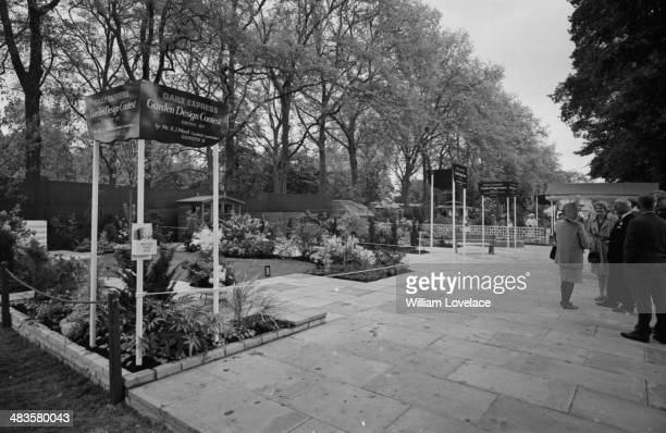 A view of the different garden plots at the Chelsea Flower Show London May 1968