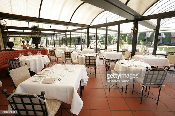View of the dining room of Restaurant Aphrodite seen on April 16 in Ascona Switzerland The German football national team will be accomodated in Hotel...