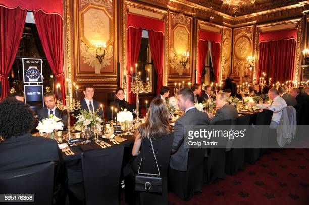 A view of the dinner at Hublot Announces Eli Manning As New Brand Ambassador With Limited Edition Timepiece at The Metropolitan Club on December 18...