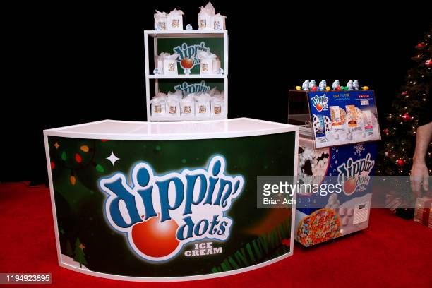 View of the dippin'dots booth at the iHeartRadio's Z100 Jingle Ball 2019 Presented By Capital One - Gifting Lounge on December 13, 2019 in New York...
