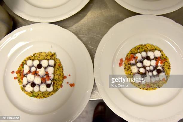 A view of the dishes prepared by Paul Kahan and Marc Vetri during a Dinner with Paul Kahan and Marc Vetri part of the Bank of America Dinner Series...