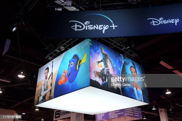 View of the Disney Pavilion at Disney's D23 EXPO 2019 in Anaheim Calif Disney launches on November 12