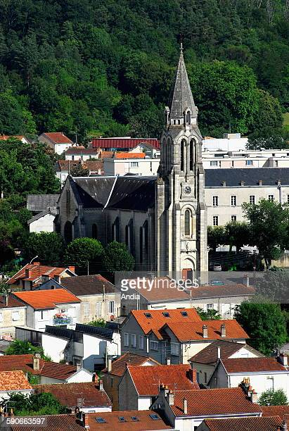 View of the district of Saint-Georges from the steeple of Saint-Front cathedral, in Perigueux in Dordogne.