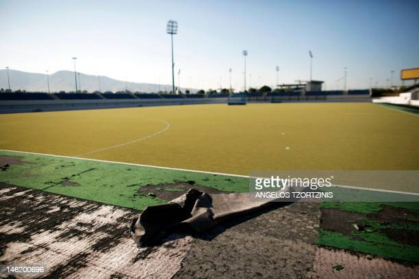 A view of the disused Olympic stadium of hockey in Athens on June 11 2012 Greece has long been criticised over the paradox of spending excessive...