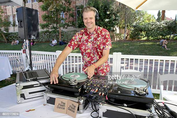 A view of the DJ booth during the 7th annual LA Loves Alex's Lemonade at UCLA on September 10 2016 in Los Angeles California