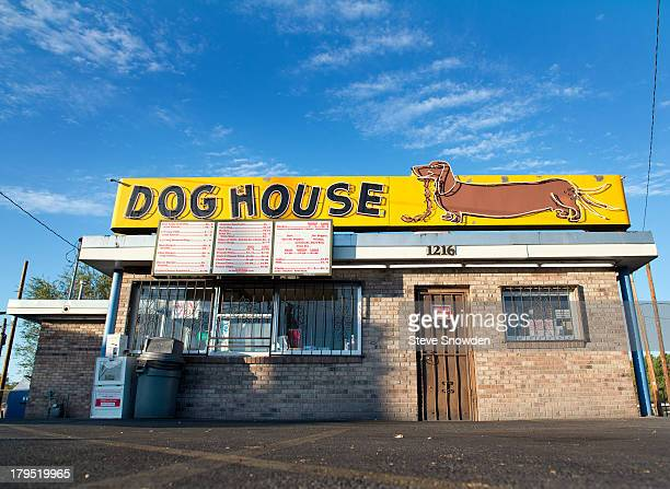 A view of The Dog House and its signs on August 31 2013 in Albuquerque New Mexico The Dog House was seen during Seasons 1 and 5 of AMCs 'Breaking...