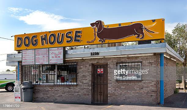 A view of The Dog House and its signs on September 02 2013 in Albuquerque New Mexico The Dog House was seen during Seasons 1 and 5 of AMCs 'Breaking...