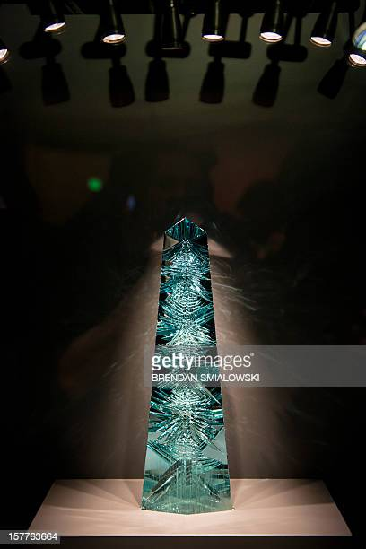 A view of the Dom Pedro after its unveiling in the Janet Annenberg Hooker Hall of Geology Gems and Minerals at the Smithsonian's National Museum of...