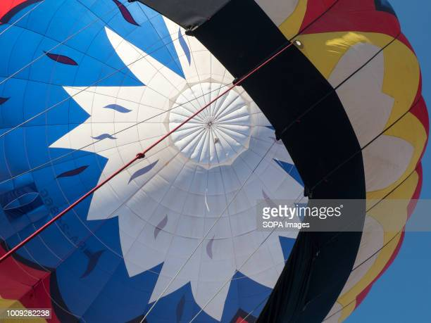 A view of the dome of the balloon The Aeronautics championship takes place in the Nizhny Novgorod region 14 teams from Russia and Germany participate...