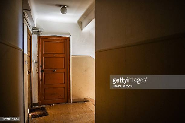 A view of the door of Mohamed Lahouaiej Bouhlel's apartment is seen on July 16 2016 in Nice France The FrenchTunisian attacker killed 84 people as he...