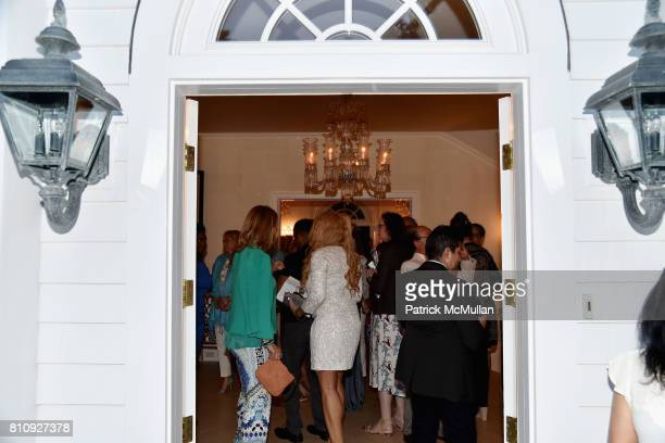View of the doorway at the Katrina and Don Peebles Host NY Mission Society Summer Cocktails at Private Residence on July 7 2017 in Bridgehampton New...