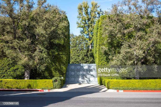 A view of the driveway of the reported new 165 million dollar estate of Jeff Bezos in Beverly Hills on February 13 2020 in Los Angeles California