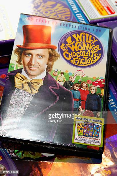 A view of the DVD at the 40th Anniversary of Willy Wonka The Chocolate Factory at Jacques Torres Chocolates on October 18 2011 in New York City