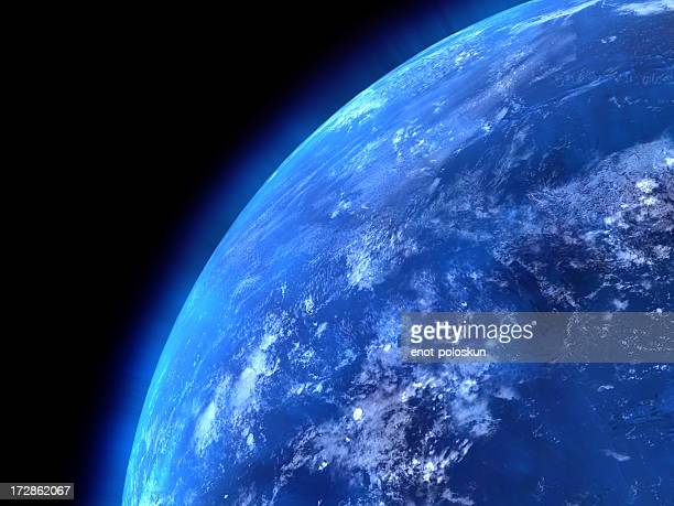 view of the earths oceans from space - satellite view stock pictures, royalty-free photos & images
