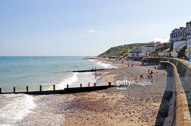 View of the east beach at the North Norfolk seaside resort of Cromer, Norfolk, England, United Kingdom.