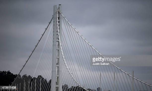 A view of the eastern span of the OaklandSan Francisco Bay Bridge on May 18 2015 in San Francisco California After nearly 12 years of construction...