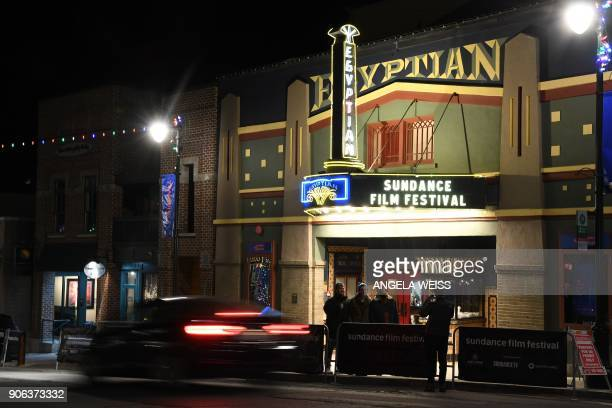 A view of The Egyptian Theater in Park City Utah on January 18 as the city prepares for the 2018 Sundance Film Festival which takes place January...