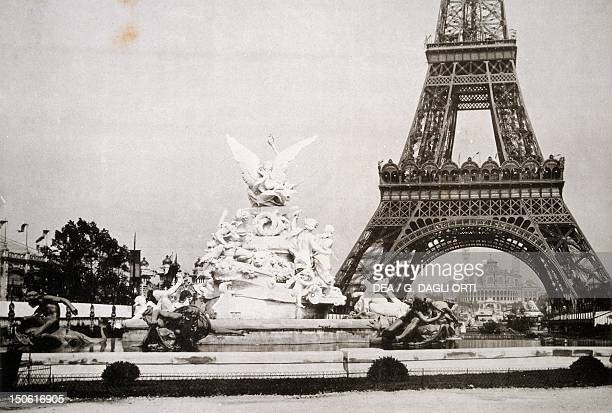 View of the Eiffel Tower during the Paris World Exposition from the L'Exposition Universale France 19th century