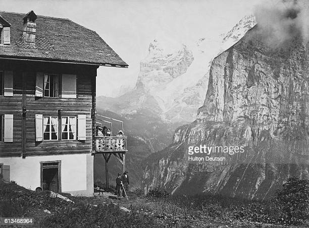 A view of the Eiger from the Swiss resort of Murren