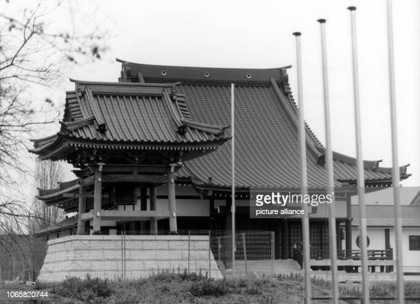 View of the Eko House a Japanese cultural centre in DuesseldorfNiederkassel on the 17th of December in 1992   usage worldwide