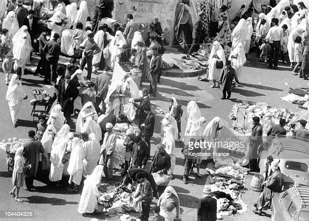 A view of the El Kettar market in Algiers which resumes its activities with the end of Ramadan