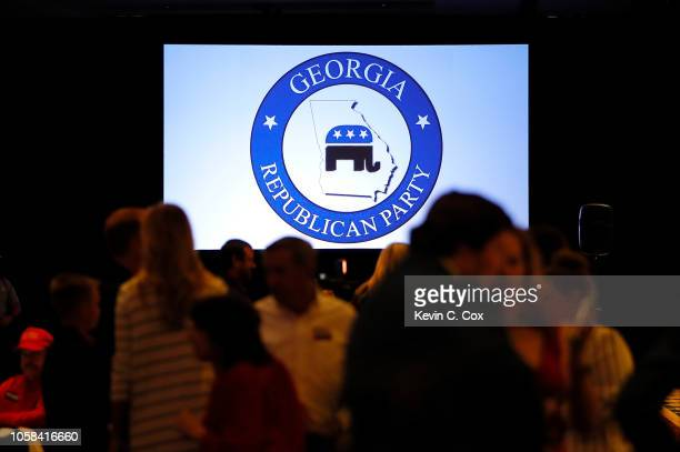 A view of the Election Night event for Republican gubernatorial candidate Brian Kemp at the Classic Center on November 6 2018 in Athens Georgia Kemp...
