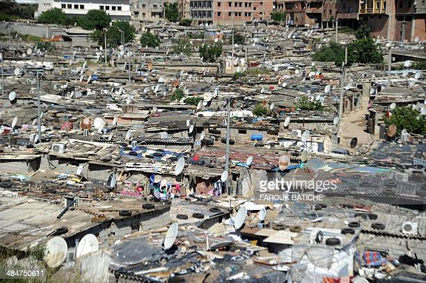 A view of the ElWiam shantytown in the Djasr Kasentina Wilaya in the capital Algiers on April 9 2014 Corruption a recurring scourge for Algeria has...