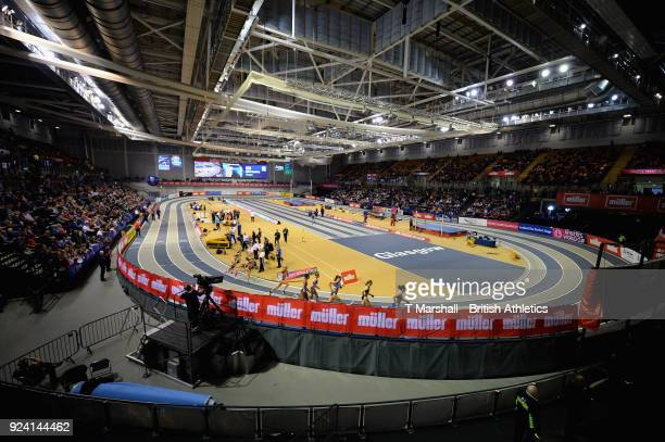 A view of the Emirates Arena during the Muller Indoor Grand Prix event on the IAAF World Indoor Tour at the Emirates Arena on February 25 2018 in...
