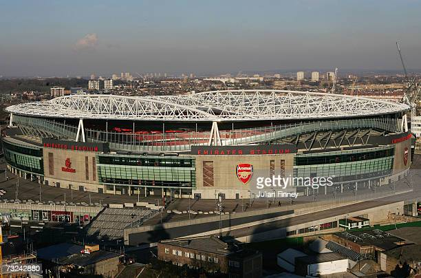 A view of the Emirates Stadium on February 7 2007 in London England