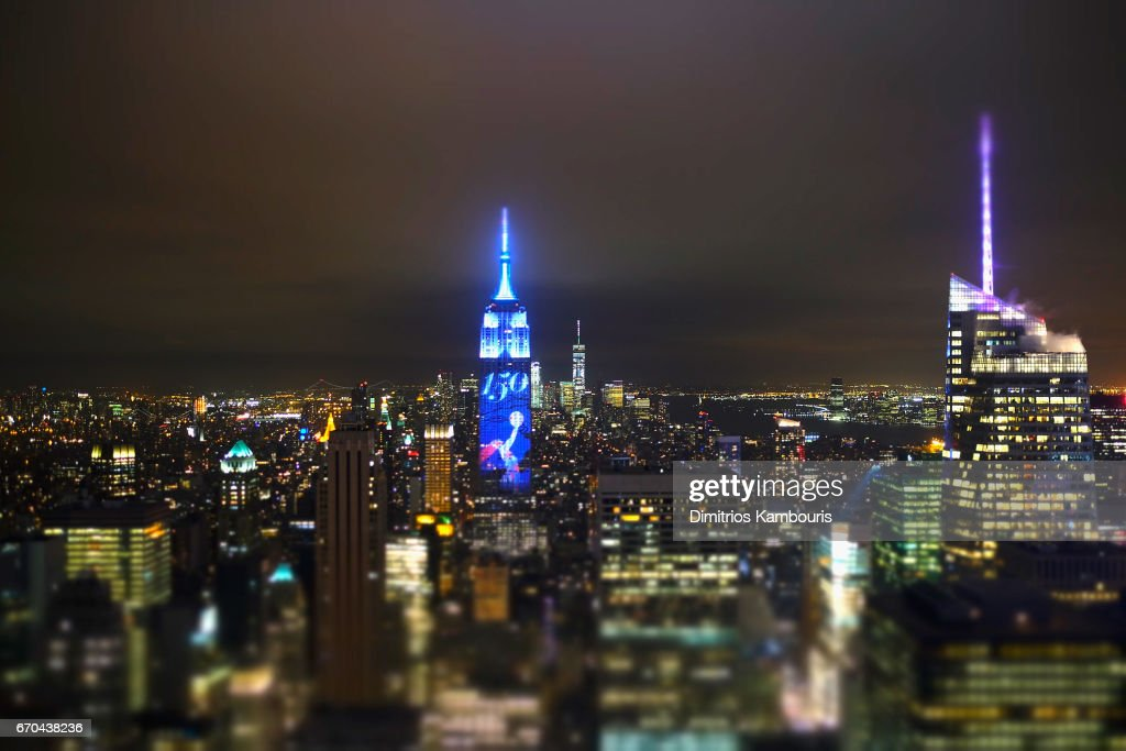 A view of The Empire State Building during Harper's BAZAAR 150th Anniversary Event presented with Tiffany & Co at The Rainbow Room on April 19, 2017 in New York City.