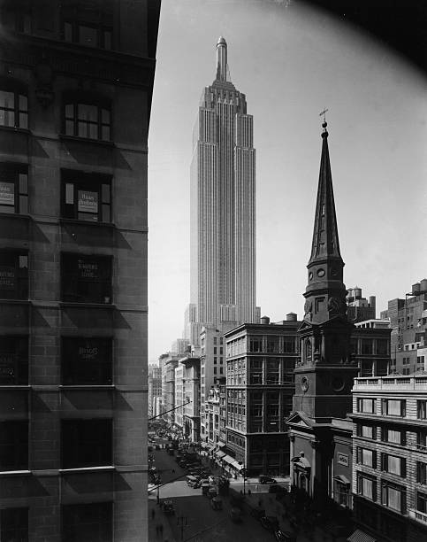 Empire State Building And Fifth Avenue Wall Art
