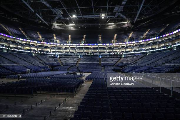 View of the empty O2 Arena on 2 December, 2018 in London, England.