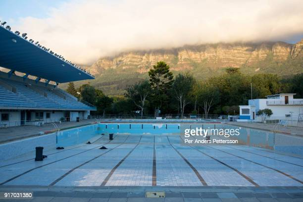 A view of the empty public swimming pool on February 7 2018 in Newlands outside Cape Town South Africa The city of Cape Town is experiencing water...