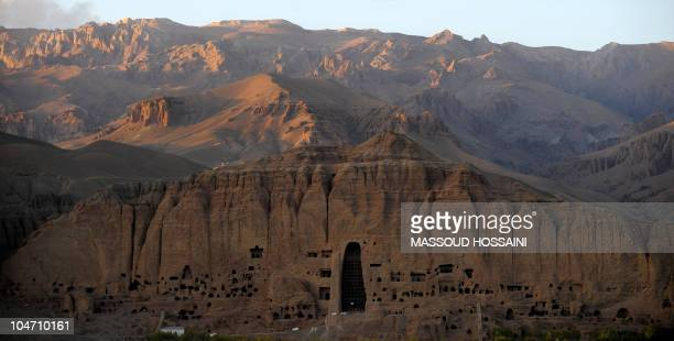 A view of the empty seat of the Buddha which was destroyed by the Taliban at the cavemonasteries of Bamiyan and the niche where the 174foot Buddha...