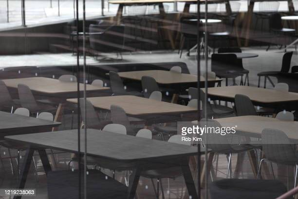 A view of the empty space at Alice Tully Hall during the coronavirus pandemic on April 16 2020 in New York City ShelterinPlace and social distancing...