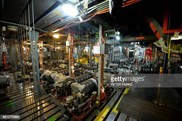 A view of the engine room of the Joan Sutherland Theatre inside the Sydney Opera House in Sydney on May 10 2017 The curtain will fall on the Joan...