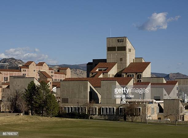 A view of the Engineering and Applied Science building at the University of Colorado is seen in this 2009 Boulder Colorado spring landscape photo