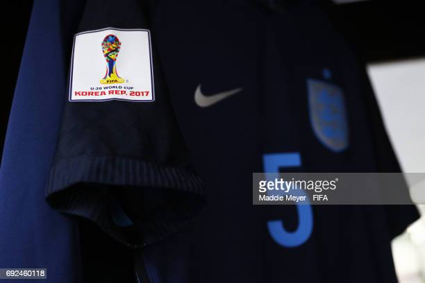 A view of the England dressing room before the FIFA U20 World Cup Korea Republic 2017 Quarter Final match between Mexico and England at Cheonan...