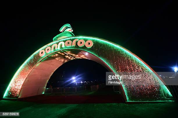 A view of the entrance during Day 1 of the 2016 Bonnaroo Arts And Music Festival on June 9 2016 in Manchester Tennessee